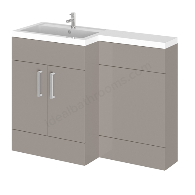 Essential NEVADA L Floor Standing Washbasin Unit + Basin; Cashmere Left Hand