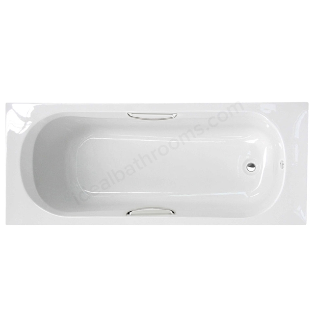 Essential OCEAN Rectangular Single Ended Bath; 1700x700mm; 2 Tap Holes; White