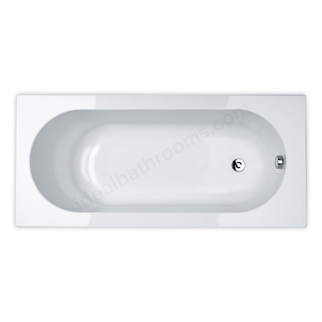 Essential KINGSTON Rectangular Single Ended Bath; 1700x700mm; 0 Tap holes; White