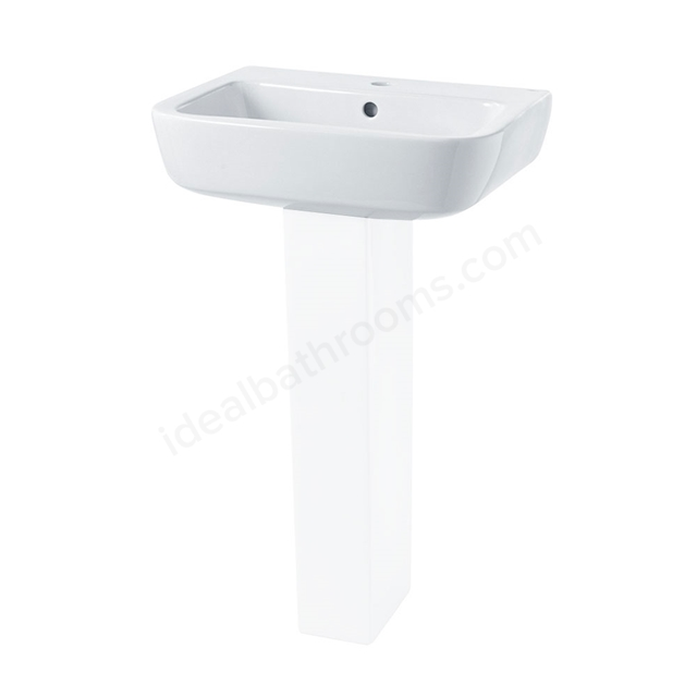 Essential ORCHID Basin Only; 520mm Wide; 1 Tap Hole; White