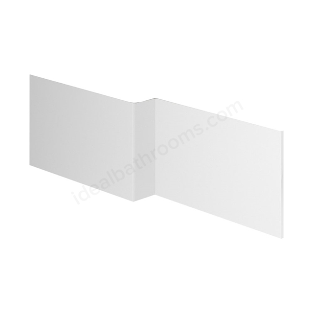 Essential NEVADA MDF L Shape Showerbath Front Bath Panel; 1700mm Wide; White