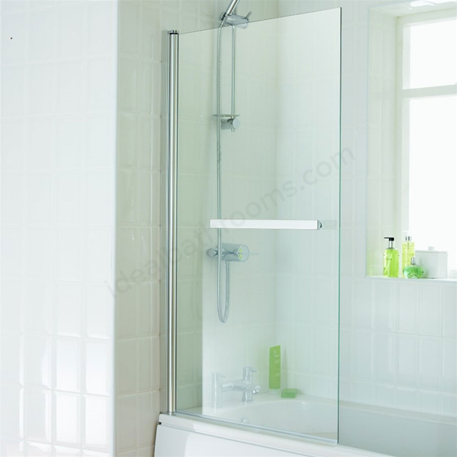 Essential ECLIPSE Square Bath Screen; 800mm Wide x 1400mm High; 6MM Glass