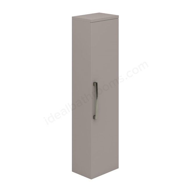 Essential NEVADA Wall Hung Column Unit; 1 Door; 350mm Wide; Cashmere
