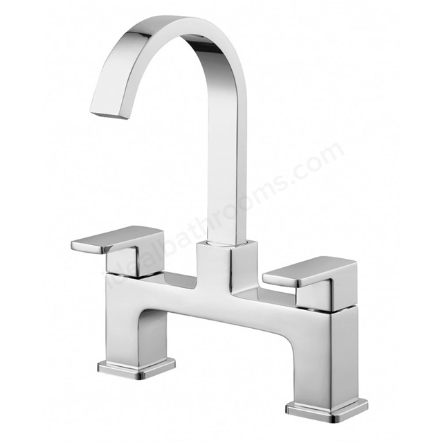 Essential STORM Bath Filler Tap, 2 Tap Holes, Chrome
