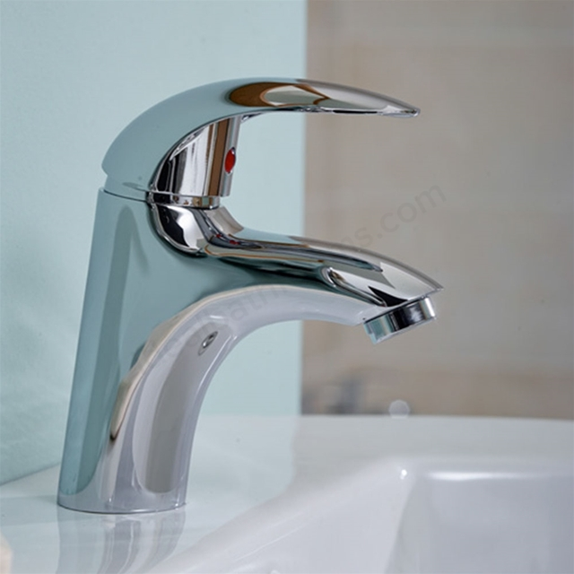 Essential SUNSHINE Basin Mixer Tap, 1 Tap Hole, Push Top Waste ...