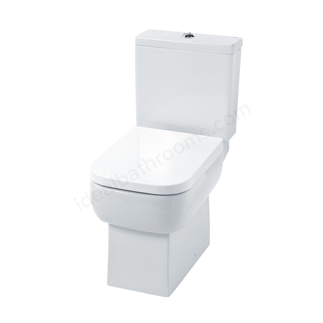 Essential ORCHID Close Coupled Pan + Cistern + Seat Pack; Soft Close Seat; White