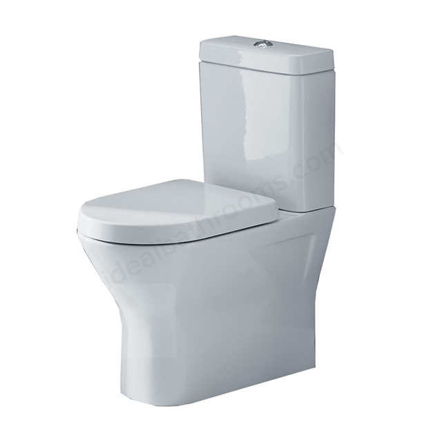 Essential IVY Close Coupled Back to Wall Rimless Pan + Cistern + Seat Pack; Soft Close Seat; White