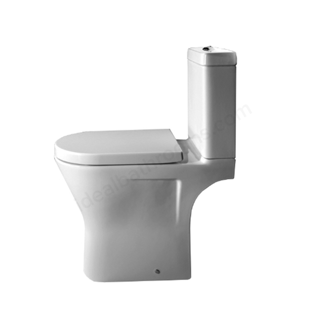 Essential IVY Close Coupled Rimless Pan + Cistern + Seat Pack; Soft Close Seat; White