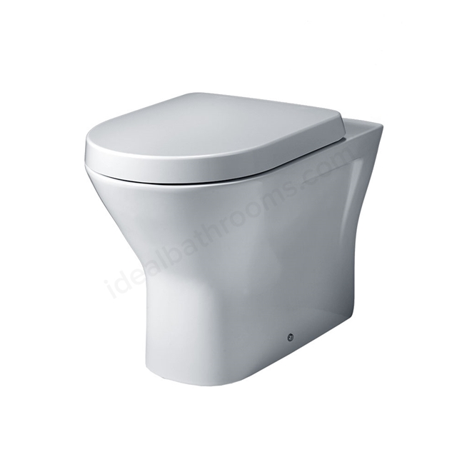 Essential IVY Back to Wall Rimless Pan + Seat Pack; Soft Close Seat; White