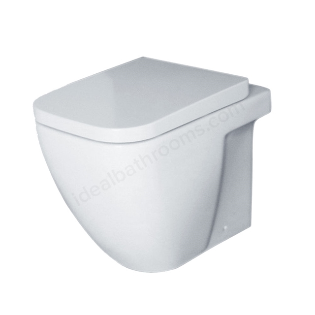 Essential FUCHSIA Back To Wall Pan Only, White