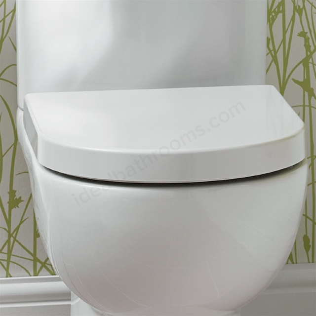 Excellent Essential Lily Toilet Seat Cover D Shape Soft Close Short Links Chair Design For Home Short Linksinfo